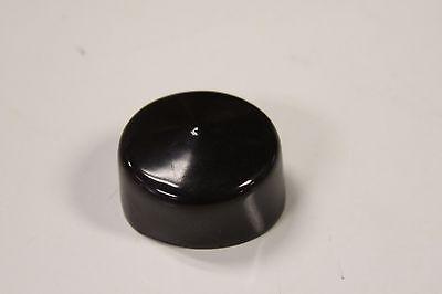2 Vinyl Round Pipe End Cap Cover Black Rubber Plastic Tube Hub Caps Tubing Post