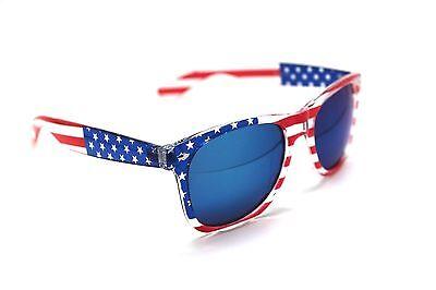 American USA Flag WAYFARE Eyewear Sunglasses Retro 80s Dark Lense