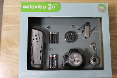 NEW – ACTIVITY GEAR CAMPING SET WITH 5 ACCESSORIES- NEW IN BOX