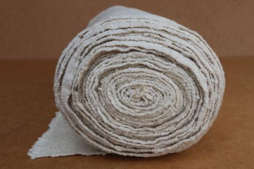 Antique Homespun Linen Fabric Texile Tissue Hand Woven Cotton 9 yrds Early 20th