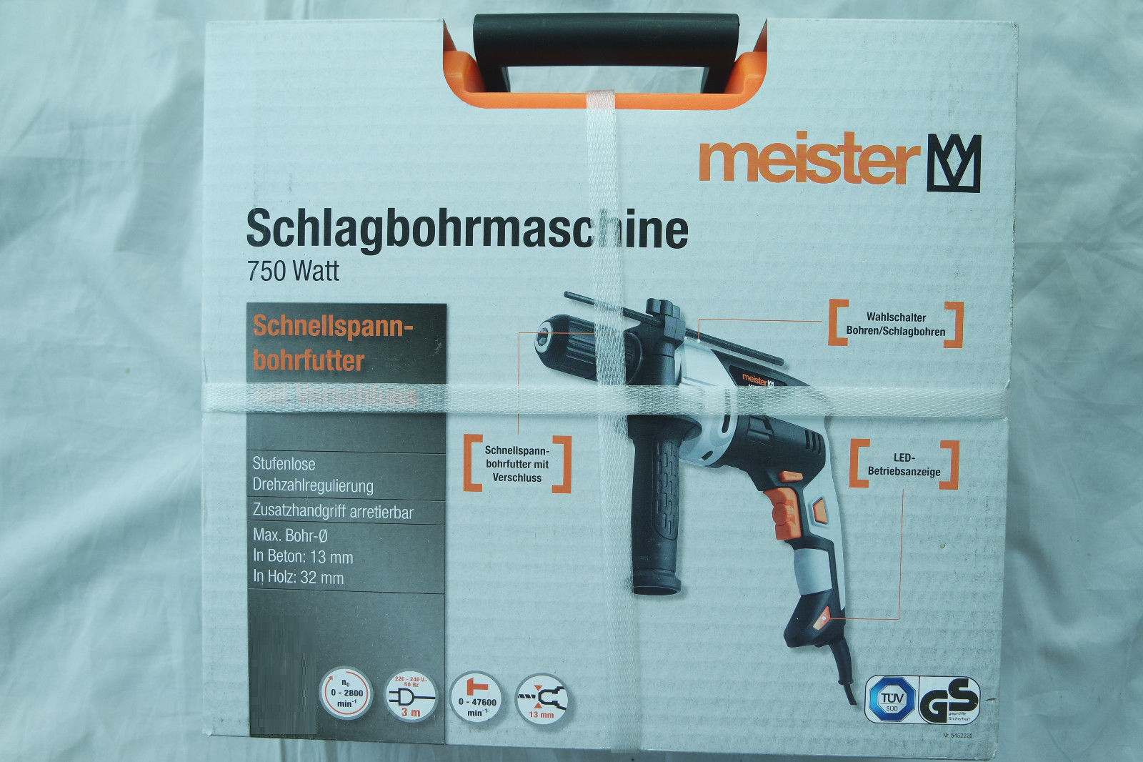 Meister Schlagbohrmaschine 750 Watt MSB750-1 bohrmaschine