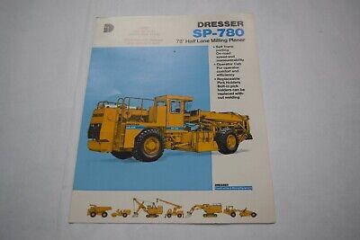 Dresser Model Sp-780 78 Half Lane Milling Planer Sales Brochure