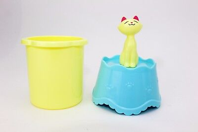 (Yellow Lucky Cat cotton swab holder gift birthday gift (LS-02087) US Seller)