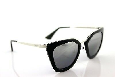 b76d82d27c384 POLARIZED PRADA CINEMA EVOLUTION Black Silver Mirror Sunglasses SPR 53S  1AB-6R2