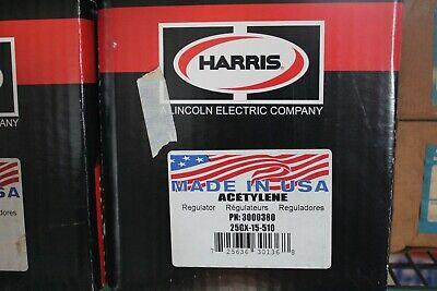 Harris Model 25 Single Stage Acetylene Regulator Cga 510 25gx-15-510 3000380 Nib
