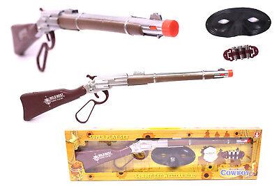 cooles Cowboy SHERIFF Spielset Wilder Westen Gewehr SOUND Maske Räuber & - Cowboy Spieler Kostüm