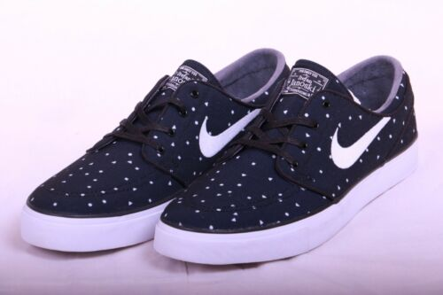 Nike Men's Zoom Stefan Janoski Cnvs Prm Black/White Skate Shoe 11.5 Men US 705190 005