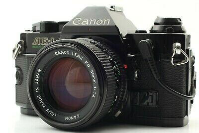 [N.Mint] Canon AE-1 Program 35mm Black Camera w/ New FD 50mm f1.4 From JAPAN 161