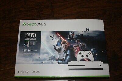 New Microsoft Xbox One S 1TB Star Wars Jedi: Fallen Order Deluxe Edition Console