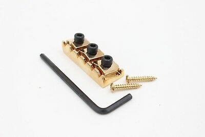 New Gold Floyd Rose Style Locking 42mm Nut String Retaining Sys w//Screws/&wrench