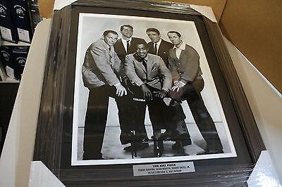 B&w 16x20 Foto (THE RAT PACK 16X20 B/W PHOTO CUSTOM FRAME DAVIS, SINATRA,MARTIN,BISHOP, LAWFORD)