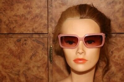 GUCCI Pink Sunglasses GG 2593/S Womens Vintage High Fashion Glasses
