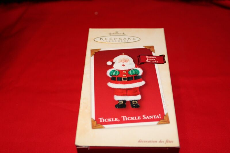 new hallmark keepsake ornament TICKLE, TICKLE SANTA! 2002
