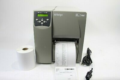 Zebra S4M Thermal Shipping Label Printer LAN Network 203 DPI with 4 x 6 Labels, usado comprar usado  Enviando para Brazil