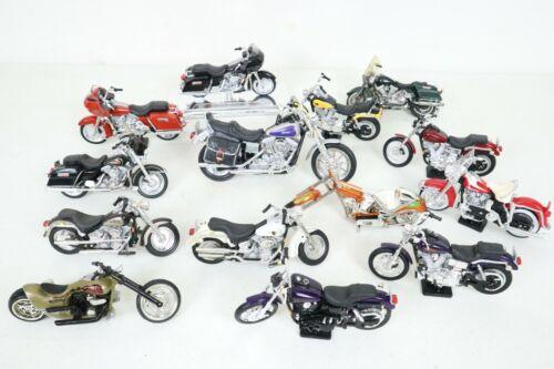 MAISTO Diecast HARLEY DAVIDSON MOTORCYCLES LOT OF 14