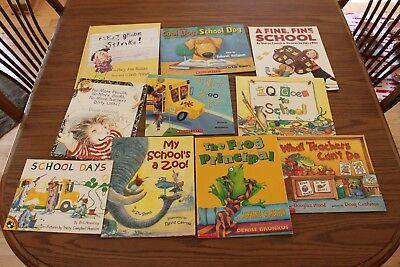 10 School Themed Teacher Books Lot Bus Zoo First Grade Dog Pencils Principal