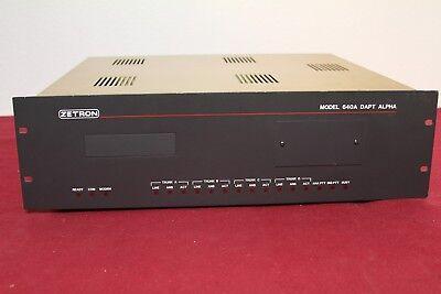 Zetron 640a Dapt Alpha Paging And Transmitter Terminal Of 66 Zetron Controllr