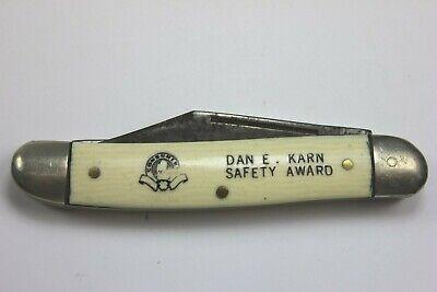 Vintage CONSUMERS POWER CO. Dan E. Karn Safety Award Folding Pocket Knife