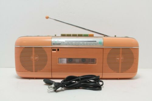 Sharp QT-50 Portable Radio Boombox Pink Stranger Things-TESTED/ WORKING +batts
