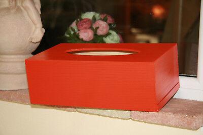 Taschentuchbox Kosmetiktücherbox Tücher Box Tissue Kiste Kosmetikbox Holz Orange
