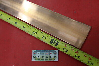 14 X 2 C110 Copper Bar 14 Long Solid Flat Mill Bus Bar Stock H02