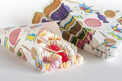 100 Spitztüten Papierspitztüten Papiertüten Geburtstag Pommestüte Candy Bar