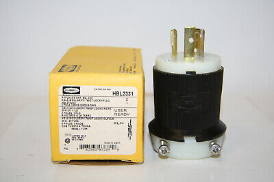 Hubbell 7688 Twist-Lock Armored Connector Body Receptacle 125V 15A 2 Wire t1