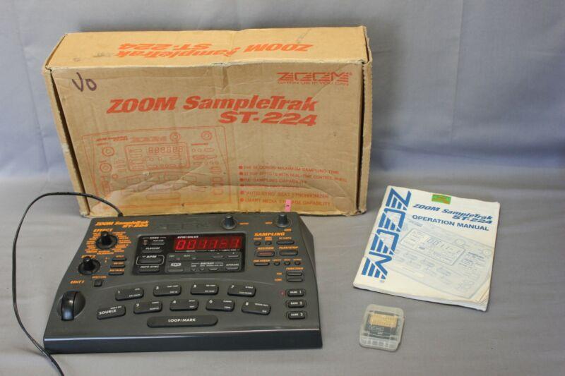 Zoom SampleTrak ST-224 Sampler w/ box power supply & 2 X 16MB Cards