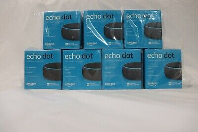 Amazon Echo Dot 3rd Generation with Alexa -Charcoal LOT OF 7 BRAND NEW