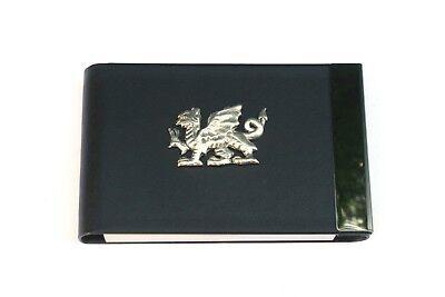Welsh Dragon Black Pu And Metal Business Or Credit Card Holder Welsh Gift 391