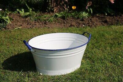 White Enamel Tub, Planter for Flowers, Display, Shop. #113