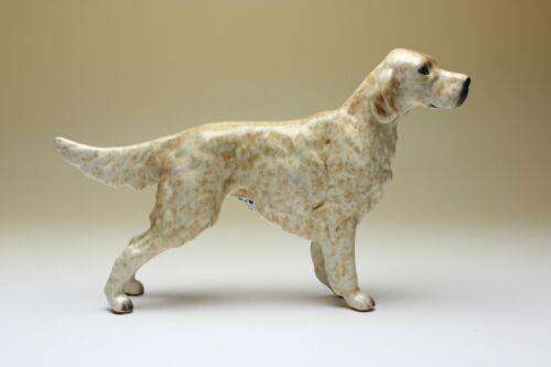 Lemon Belton English Setter Orange Speckled Porcelain Dog Figurine Japan New