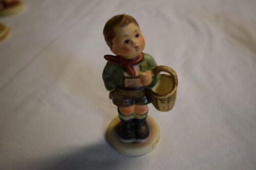 """Hummel Goebel Figurine # 51 3/0 """"Village Boy"""" with Basket Vintage W Germany *"""