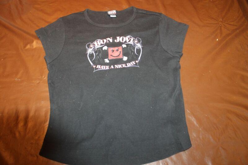 Bon Jovi Have a NIce Day Womans Slim Fit XL Short Sleeve T Shirt Tee