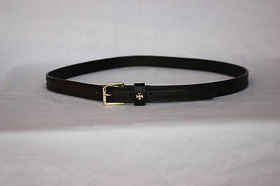 NEW Black Leather Adjustable TORY BURCH Women's BELT Gold Tone Buckle Size LARGE