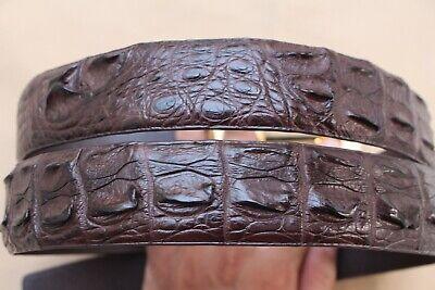 Dark Brown Genuine Alligator, CROCODILE Leather Skin Men's BELT  Brown Crocodile Genuine Belt