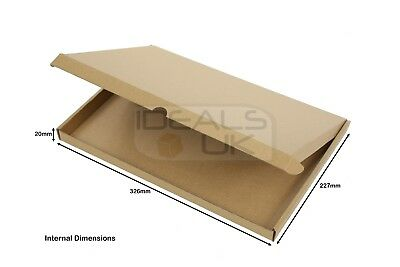 25 x C4 A4 SIZE BOX 326x227x21mm ROYAL MAIL LARGE LETTER POSTAL CARDBOARD PIP