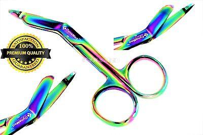 German 1 Lister Bandage Nurse Scissors - 3.5 Multi Titanium Color Rainbow Nurse