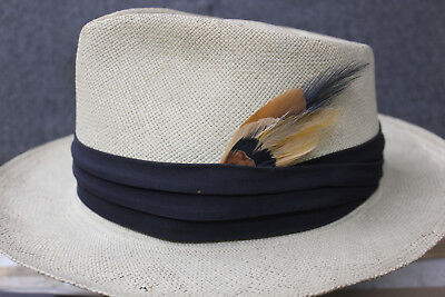 Men's hat feather trims made from 1920s vintage stock-cowboy, fedora,  brown