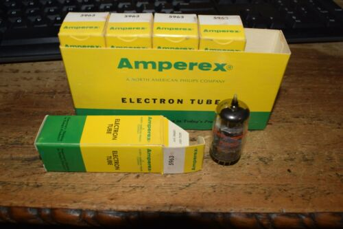 vintage sleeve of 5 NOS amperex 5963 tubes matching code dates tube amp stereo