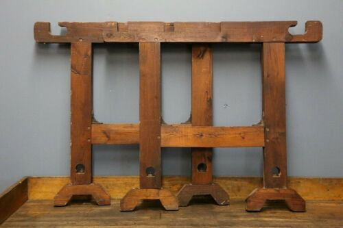 Vintage Antique Wood Table Legs Workbench, Kitchen Island, Desk, Industrial old