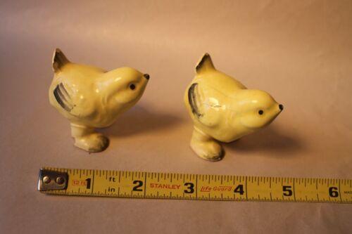2 Vintage Yellow Ceramic Baby Chicks