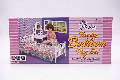 Gloria Beauty Bedroom Play Set (9314) For Doll House Furniture