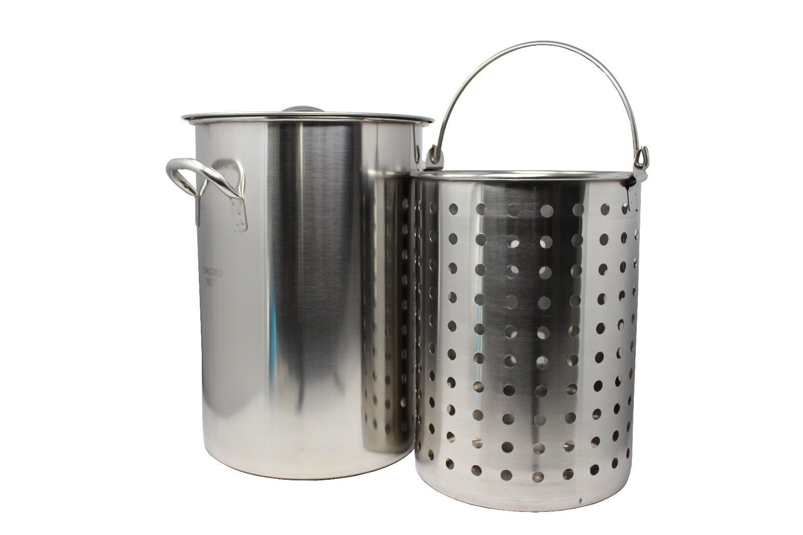 CONCORD Stainless Steel Stock Pot w/ Basket. Heavy Kettle. C