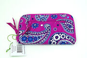 Vera Bradley Zip Around Wallet Boysenberry