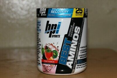 Bpi SPORTS BEST AMINO BCAA + GLUTAMINE Supplement 25 SERVINGS FRUIT PUNCH