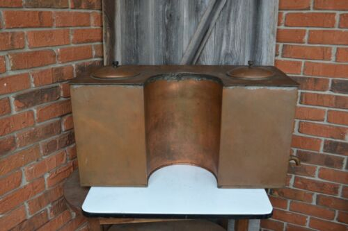 Antique Old Copper Hand Crafted Water Boiler Water Heater Stove Top