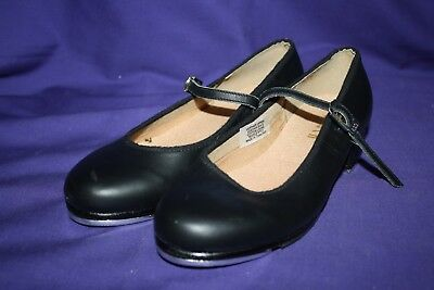 Bloch Tap On Black Leather 5 Tap Shoes Dance 1.25 heel mary jane