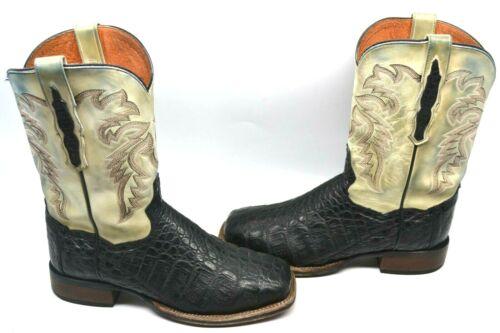 Dan, Post, Mens, BLACK, 9, D, DENVER, Western, Cowboy, Boot, EXOTIC, Caiman, 2805, Square, TOE