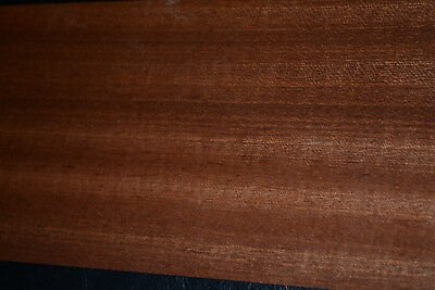 Sapele Ribbon Stripe Wood Veneer Sheets 4.25 X 34 Inches   6773-25